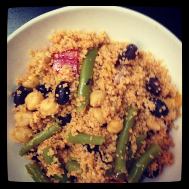 couscous and three bean salad