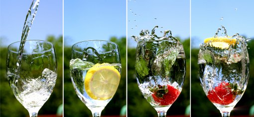 cup of water and there you have it all natural fruit water