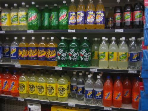 soft drinks display