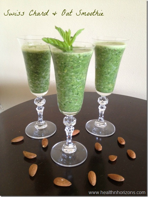 swiss chard and oat smoothie