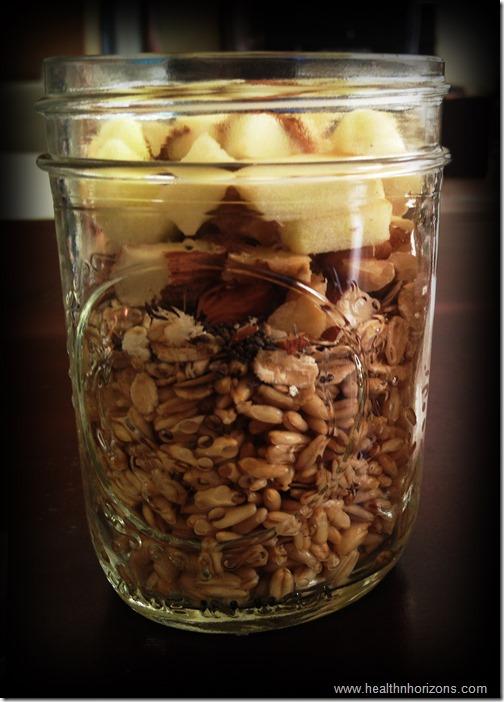 oatmeal parfait- breakfast in a jar
