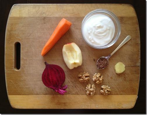 beetroot smoothie ingredients