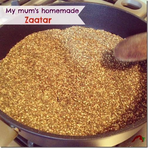 my mum's homemade zaatar
