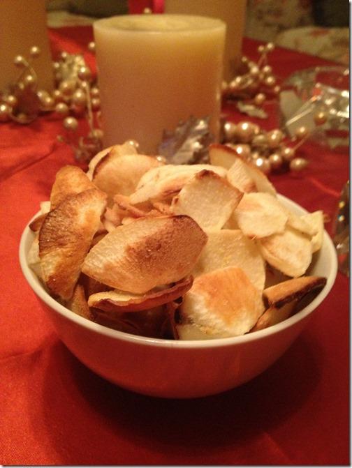 baked cassava chips