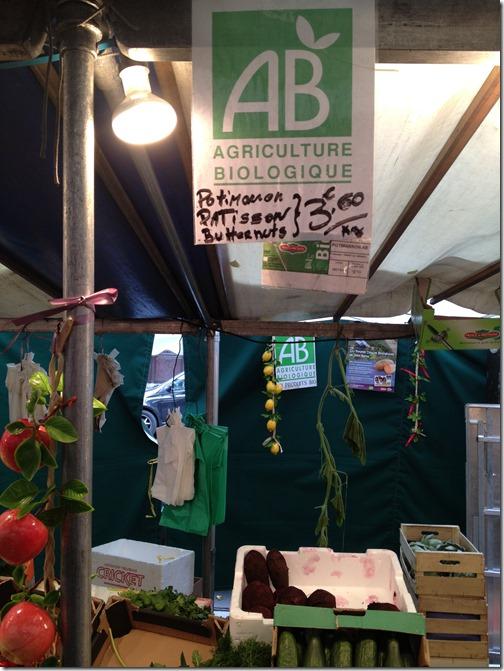 Farmers' market paris- organic corner