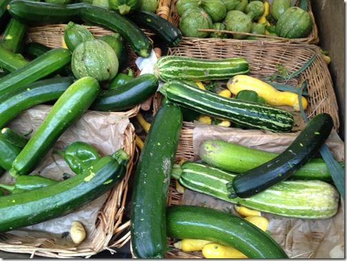 Farmers' market paris- zucchini
