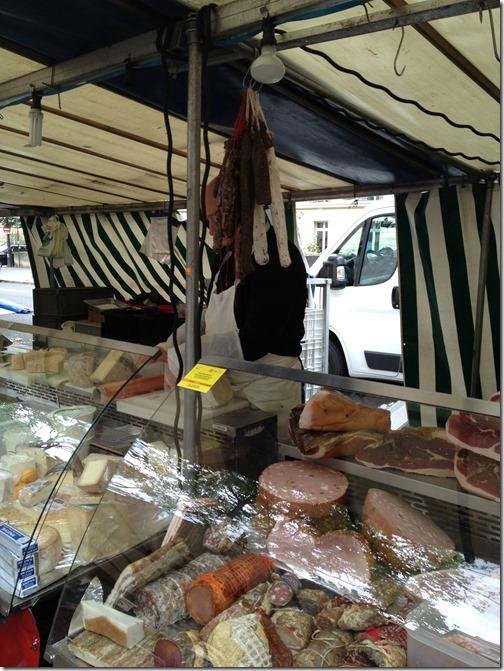 Farmers' market paris- sausage, salami