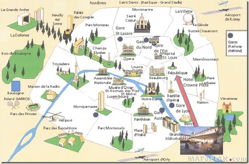 paris must see top tourist attractions detailed sightseeting maps