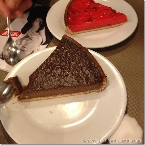 chocolate and praline tarts