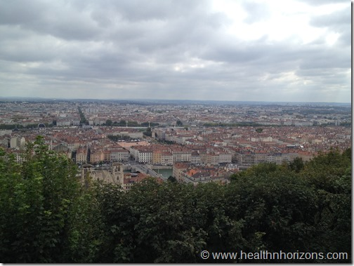 Lyon as seen from Fourviere